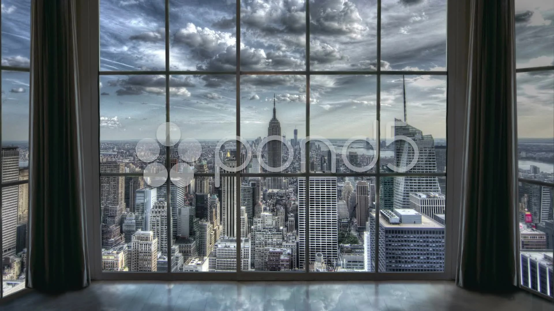 New York City View from Manhattan Apartment Window Empire