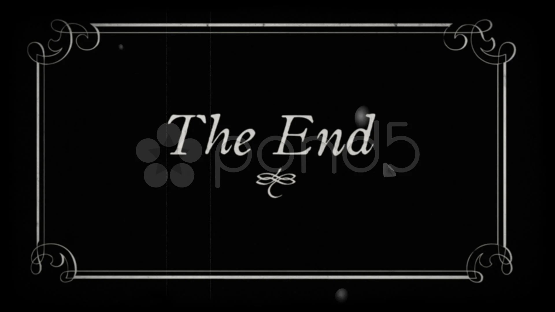 OldFilm The End Fin End Title Stock Video 7745660