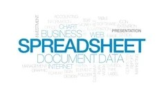 Spreadsheet animated word cloud, text design animation. Kinetic ...