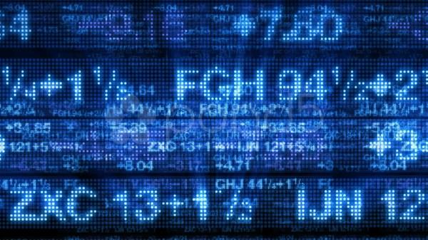 Video Stock Market Data Tickers Board 3d Background