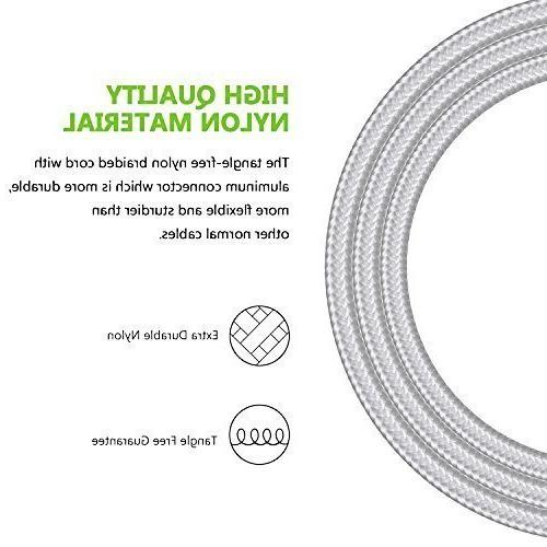 USB Type C Cable, Arukas Extra Long Nyl