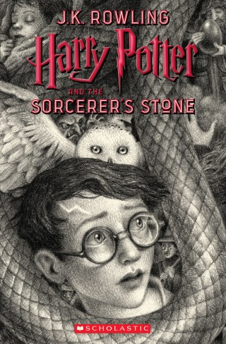 Brian Selznick's copertine for Harry Potter and the Sorceror's Stone