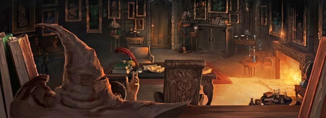 Sorting Hat in Dumbledore's office