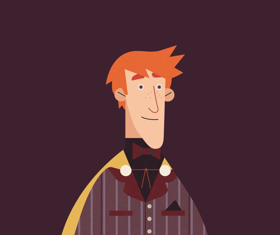 Illustration of Fred Weasley from the second Order of the Phoenix infographic