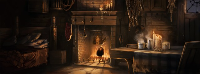 The egg Hagrid was given by a stranger sits in the fire in his hut, waiting to hatch