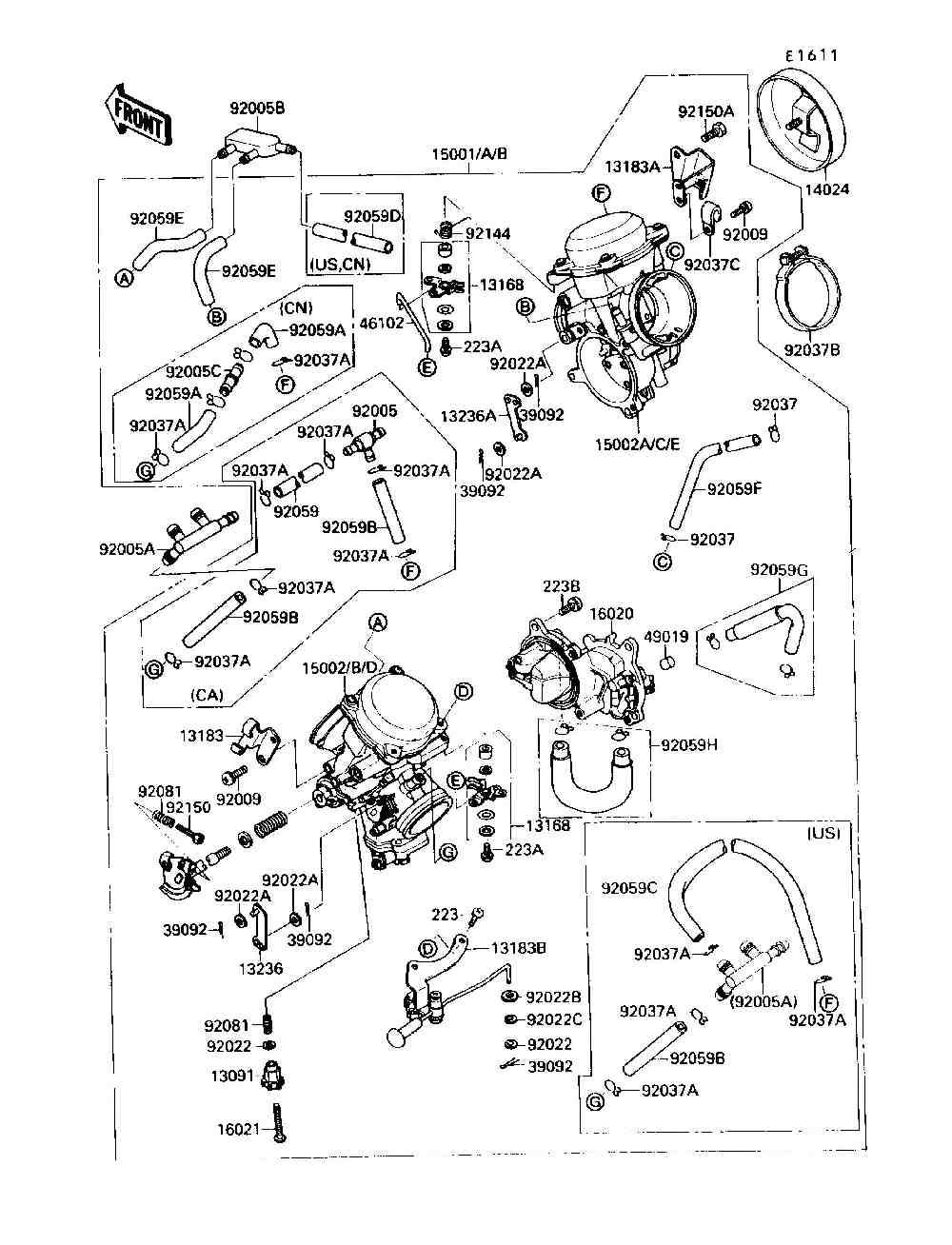Kawasaki Vergaser Einstellen