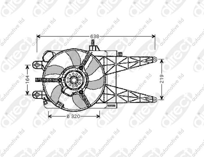 Radiator Fan 1.2 60 (188.030, .050, .130, .150, .230, .250