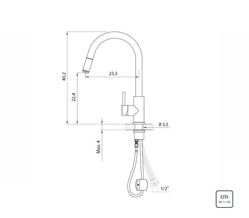 Misturador Monocomando Tramontina em Aço Inox com Extensor