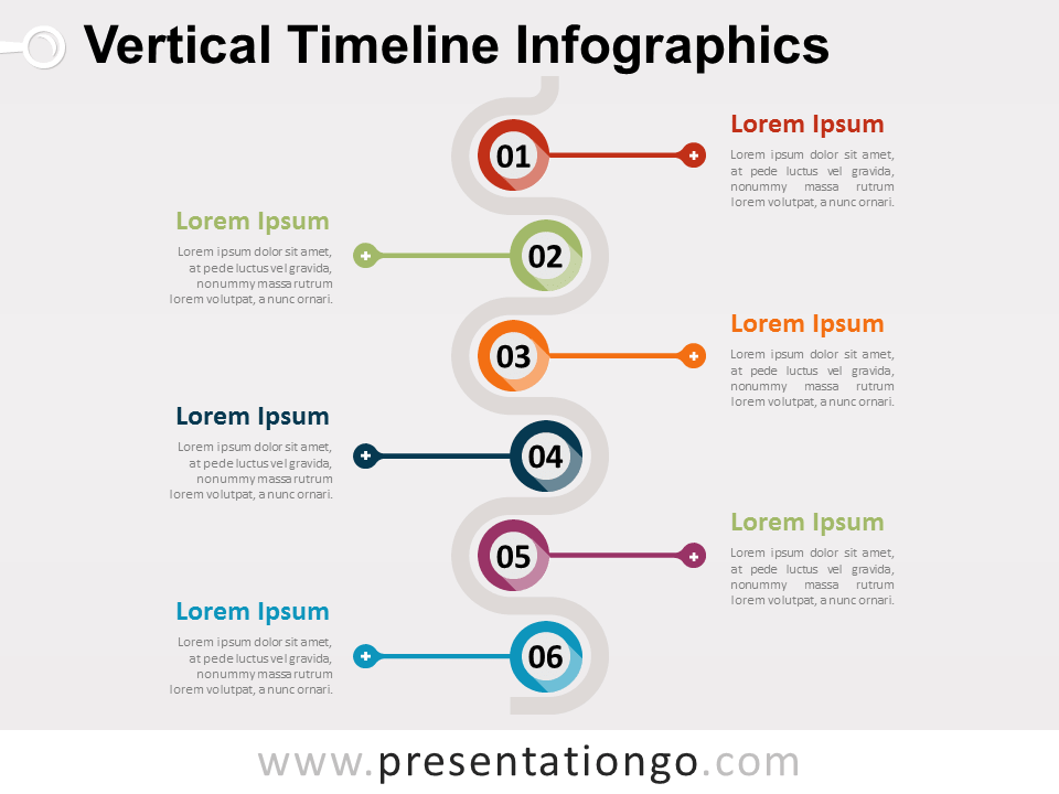 Vertical Timeline Infographics For PowerPoint