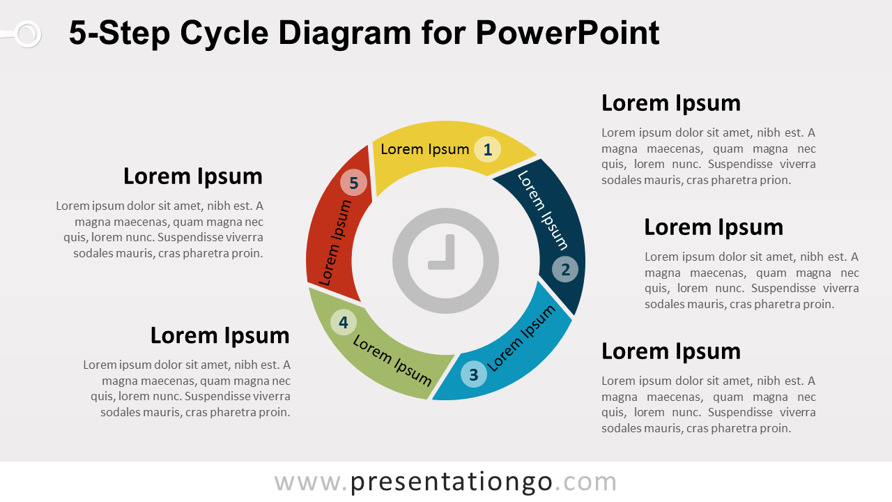hight resolution of 5 level cycle diagram for powerpoint