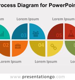 6 step process powerpoint diagram [ 1280 x 720 Pixel ]