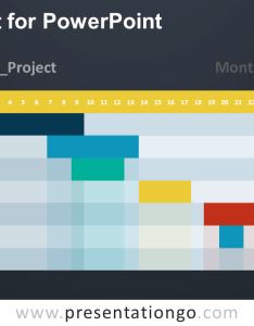Free gantt chart powerpoint diagram dark background also for presentationgo rh