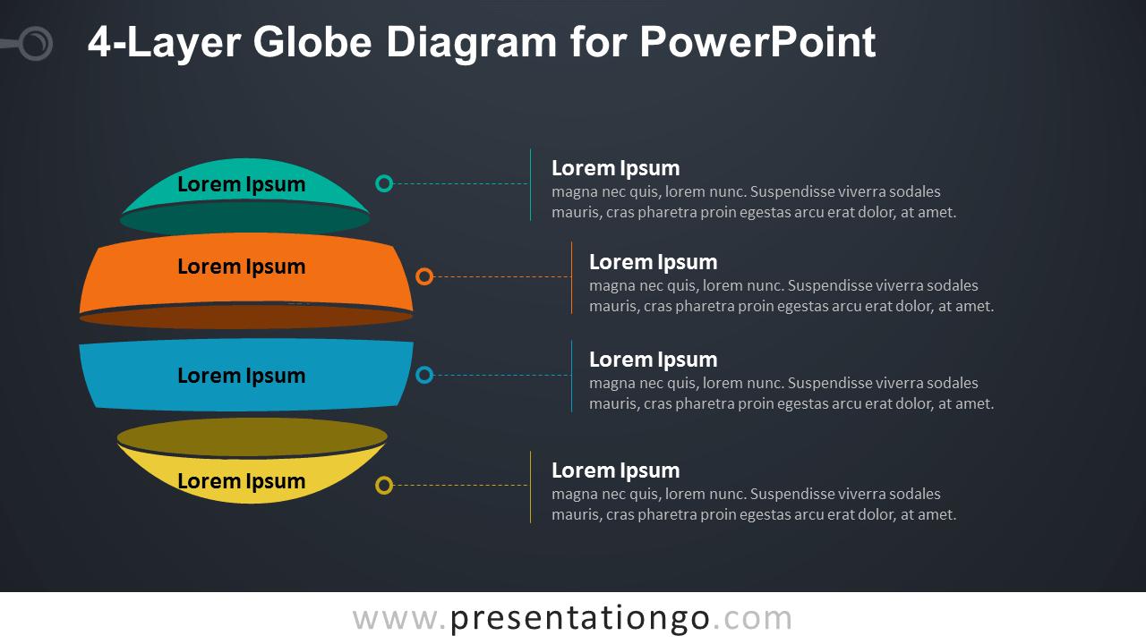 hight resolution of globe diagram for powerpoint dark background