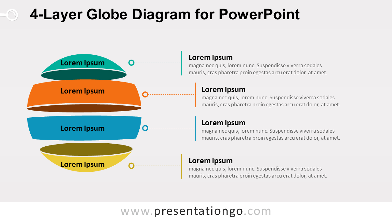 hight resolution of globe diagram for powerpoint