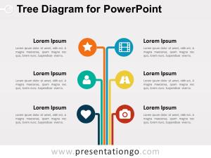 Tree Diagram for PowerPoint  PresentationGO