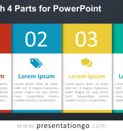 free 4 part table diagram for powerpoint dark [ 1280 x 720 Pixel ]