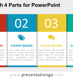 free 4 part table diagram for powerpoint [ 1280 x 720 Pixel ]