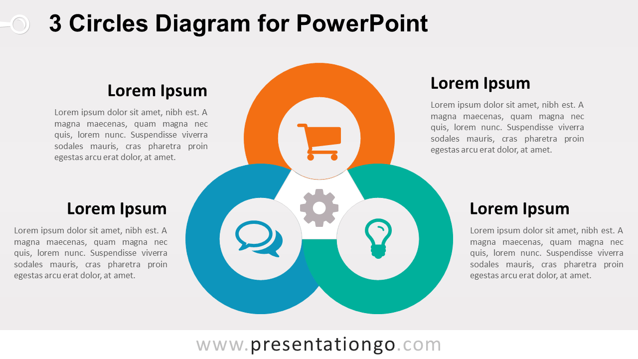 hight resolution of 3 circles powerpoint template