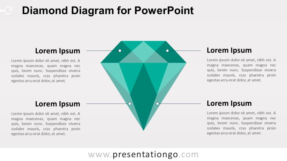 medium resolution of green diamond powerpoint template
