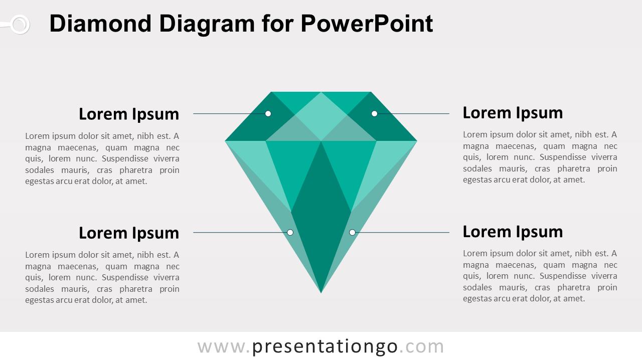 hight resolution of green diamond powerpoint template