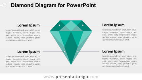 small resolution of green diamond powerpoint template