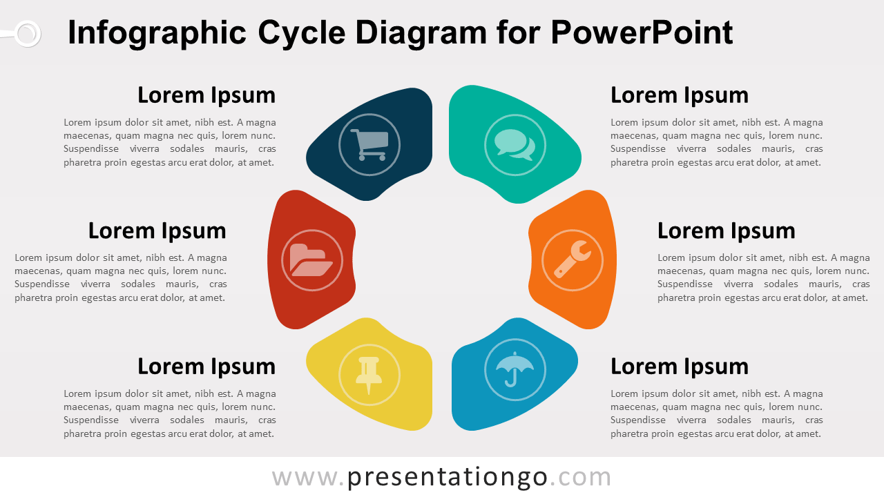 hight resolution of powerpoint template with infographic cycle diagram