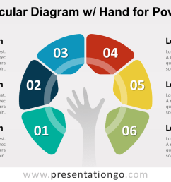 semi circular diagram with hand powerpoint template [ 1280 x 720 Pixel ]
