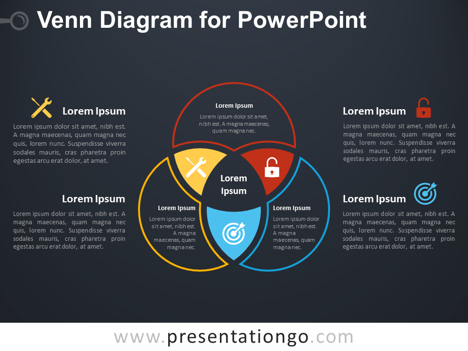 sets and venn diagrams powerpoint 4 wire mobile home wiring diagram for - presentationgo.com