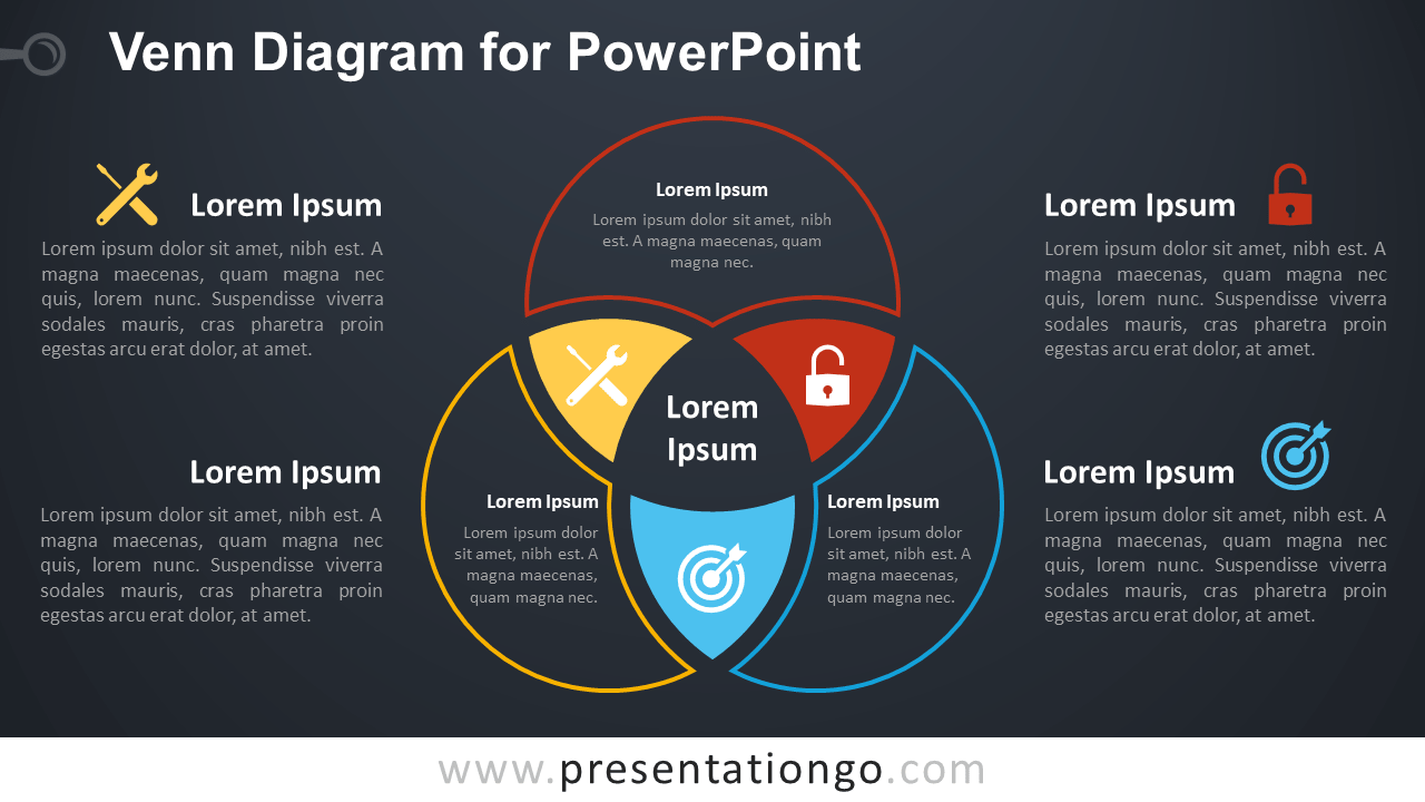 hight resolution of free venn diagram template for powerpoint dark background
