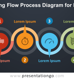 free alternating flow process for powerpoint dark background [ 1280 x 720 Pixel ]