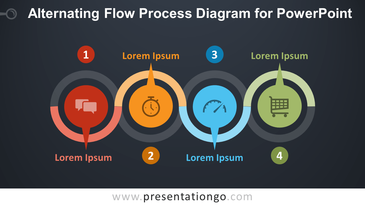 hight resolution of free alternating flow process for powerpoint dark background