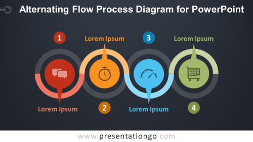 small resolution of free alternating flow process for powerpoint dark background