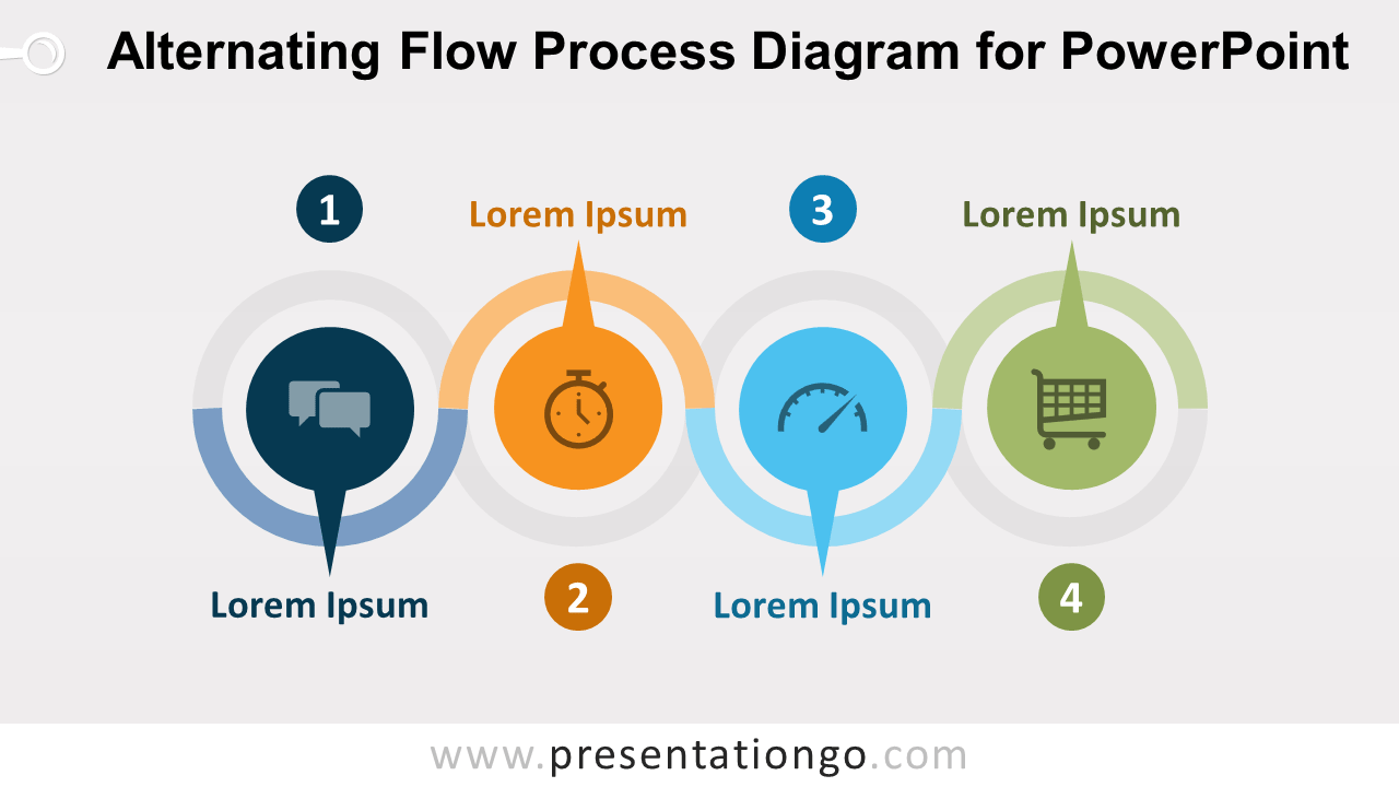 hight resolution of alternating flow process diagram for powerpoint