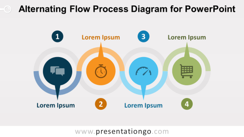 small resolution of alternating flow process diagram for powerpoint