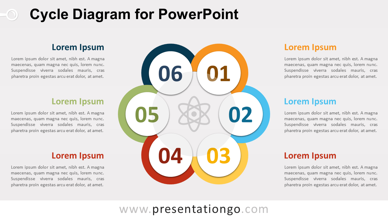 hight resolution of free cycle diagram powerpoint template