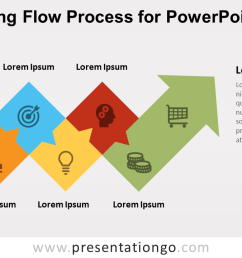 free alternating flow process diagram for powerpoint [ 1280 x 720 Pixel ]