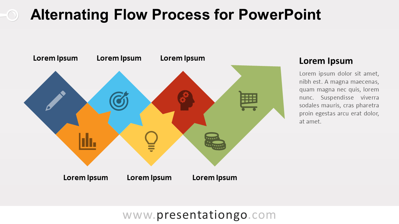 hight resolution of free alternating flow process diagram for powerpoint