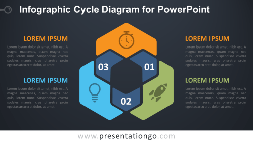 small resolution of free infographic cycle powerpoint venn diagram dark background