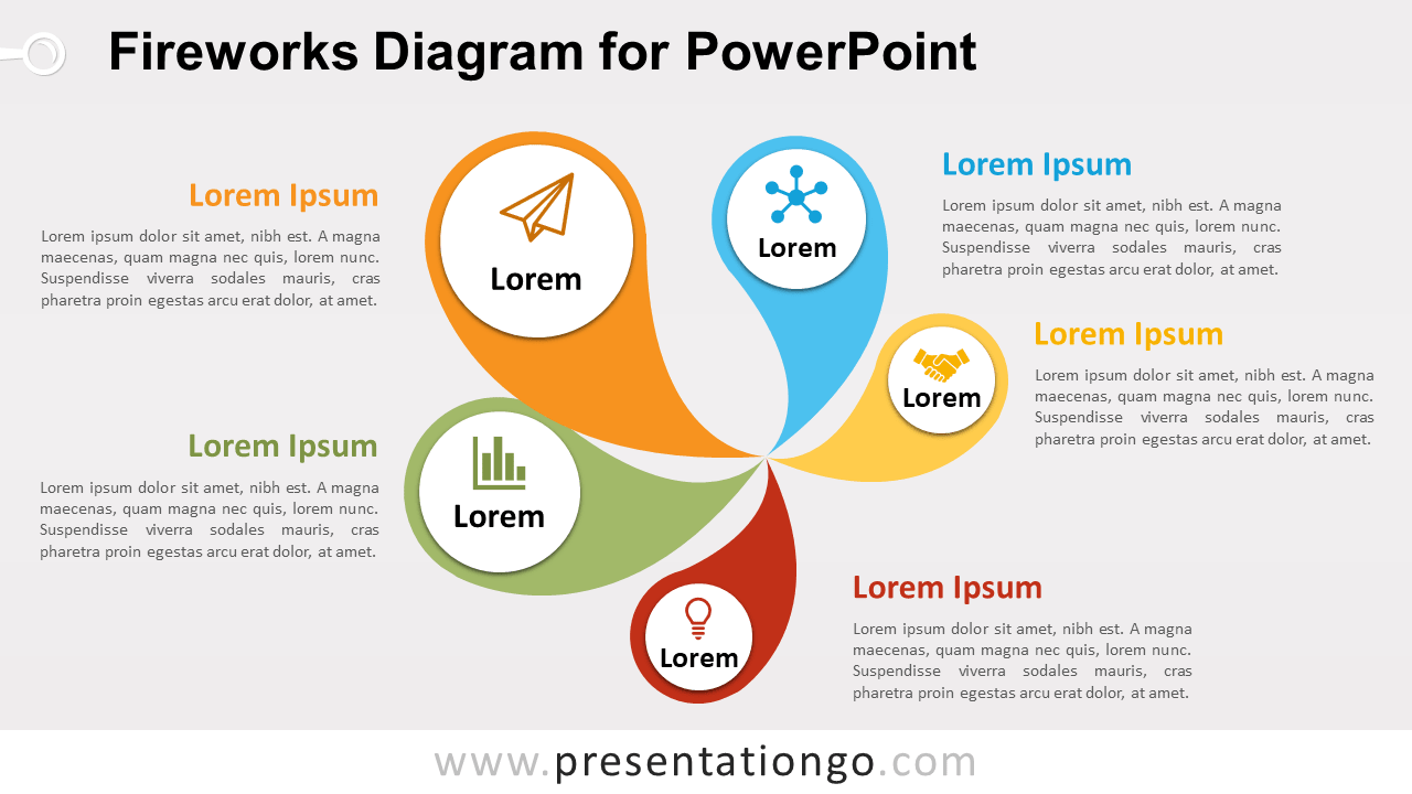 hight resolution of free fireworks powerpoint diagram