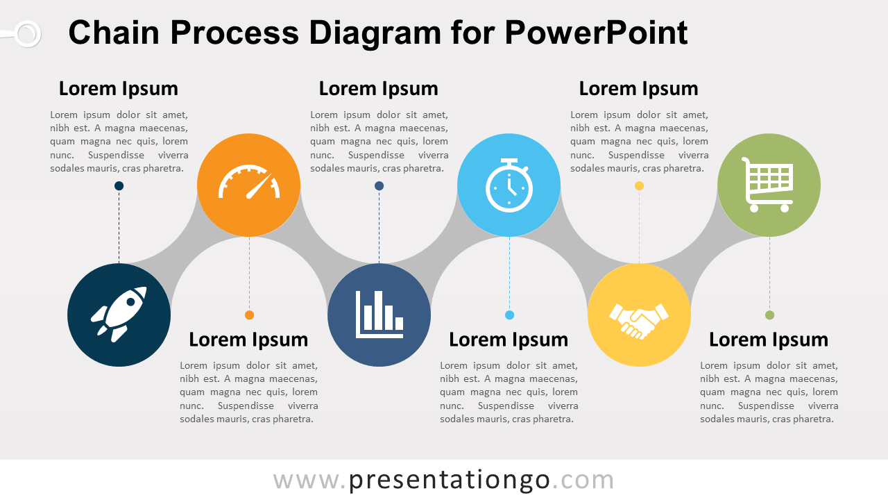 hight resolution of free chain process for powerpoint with text