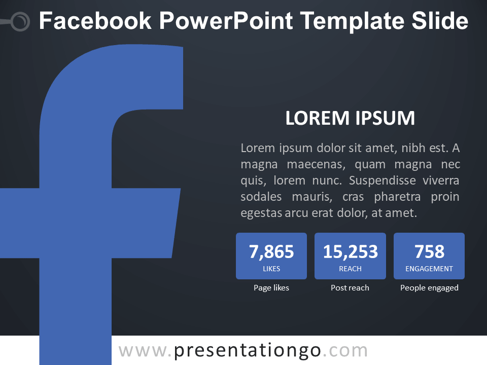 facebook powerpoint template slide