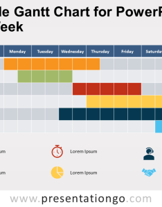 View larger image free simple gantt chart for powerpoint week also presentationgo rh