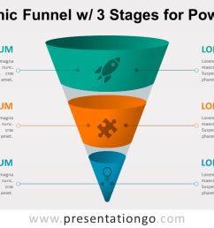 infographic funnel with 3 stages free powerpoint diagram [ 1280 x 720 Pixel ]
