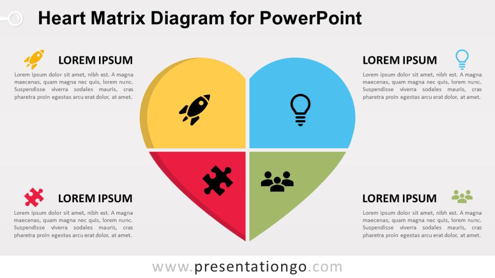 medium resolution of free heart matrix for powerpoint