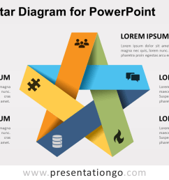 free folded star for powerpoint [ 1280 x 720 Pixel ]