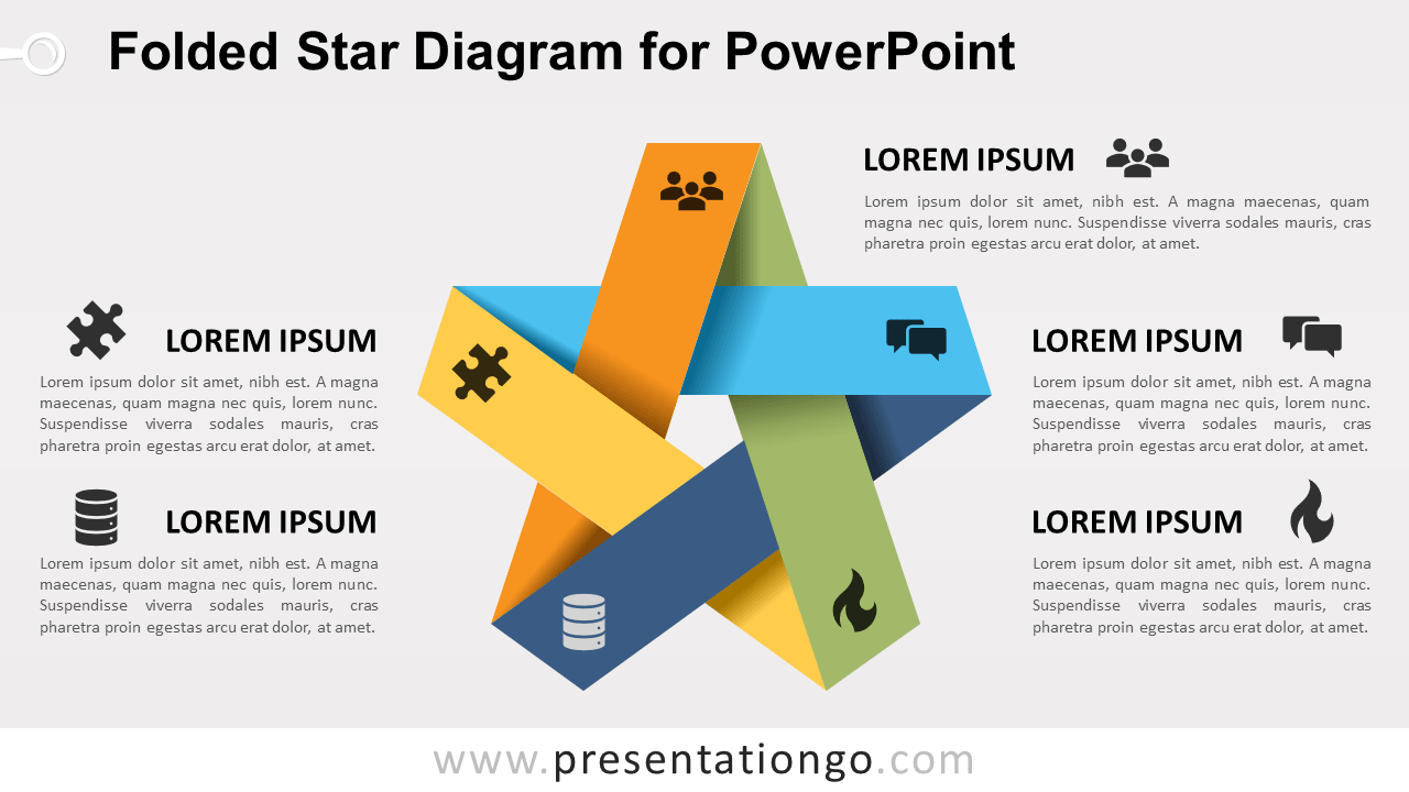hight resolution of free folded star for powerpoint