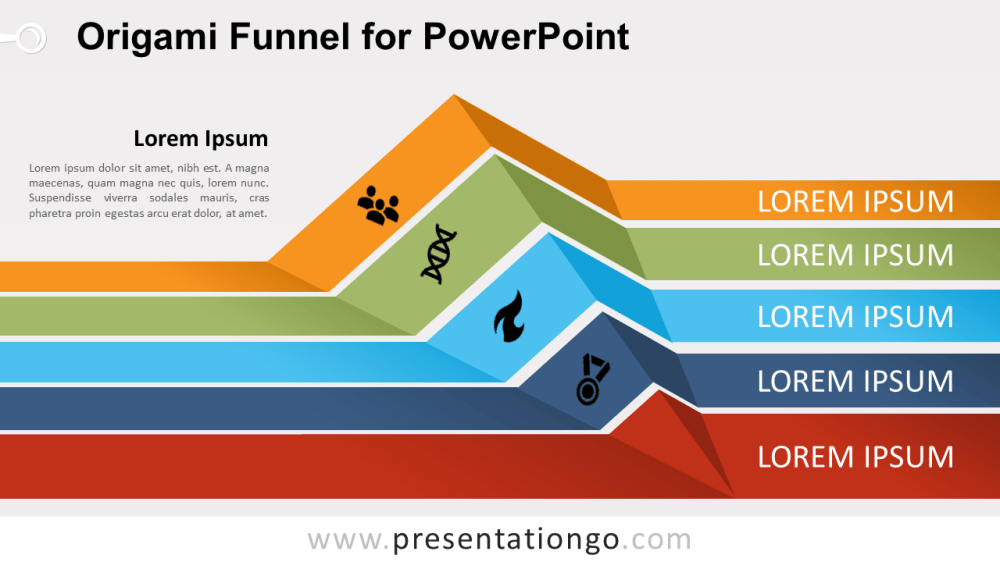 medium resolution of free origami funnel diagram for powerpoint