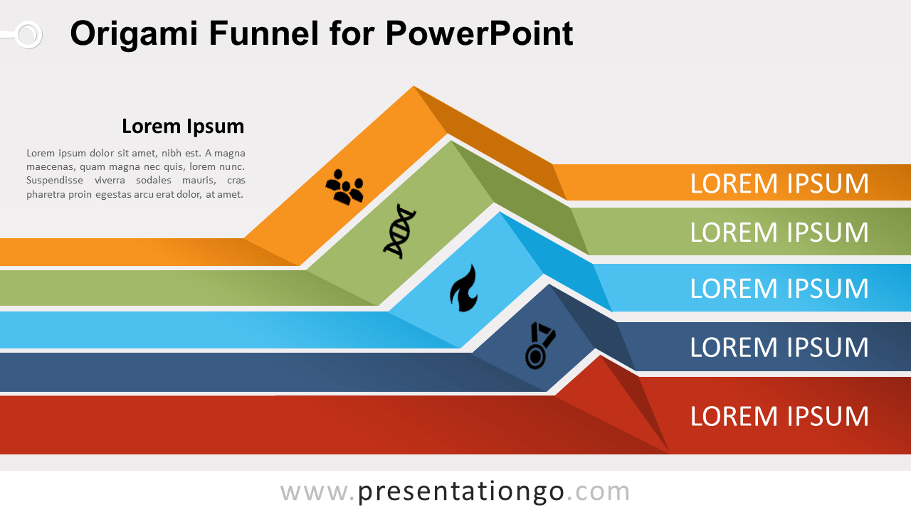 hight resolution of free origami funnel diagram for powerpoint
