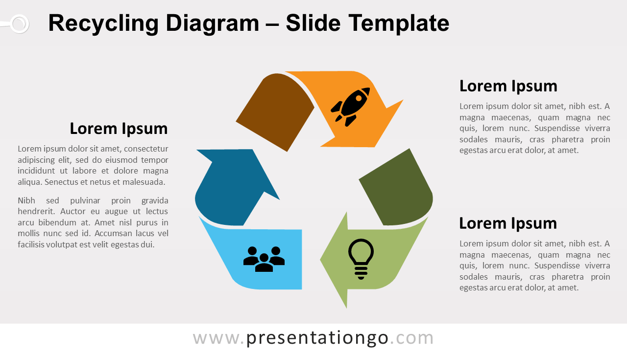 hight resolution of free recycling diagram for powerpoint and google slides