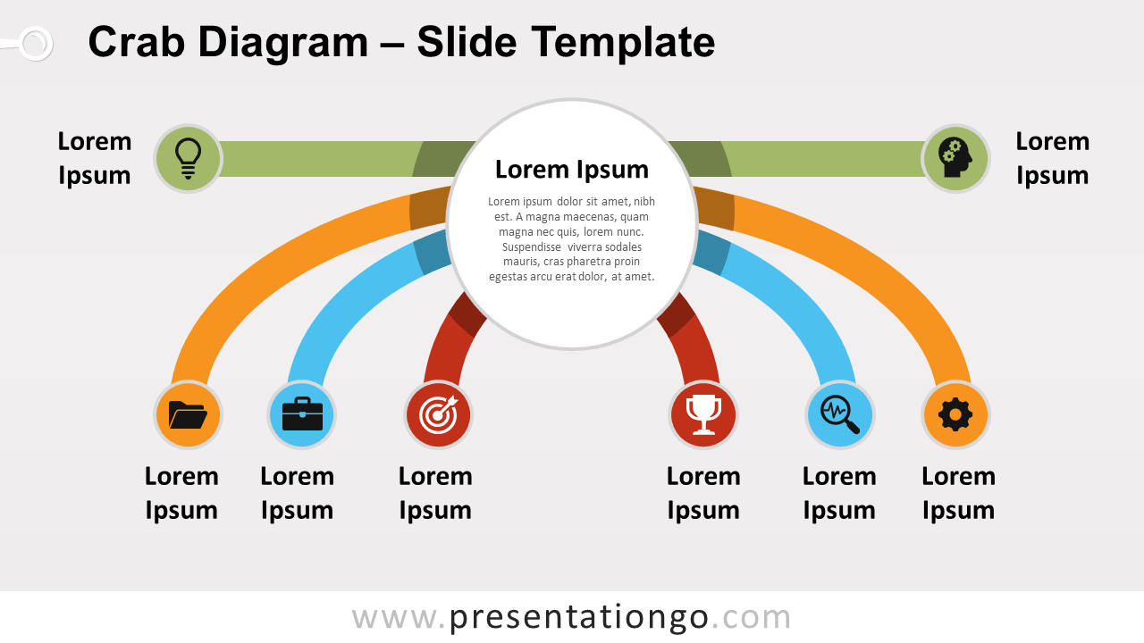 hight resolution of crab diagram for powerpoint and google slides